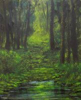 Forest Path (acrylic) by Boias