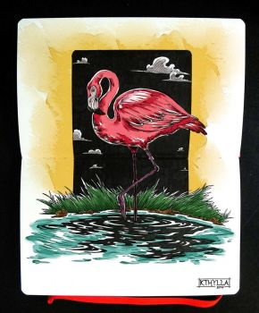 Moleskine: Flamingo by kthylla