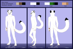 Reference sheet snow leopard commission by StanHoneyThief