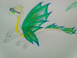 Moon Butterfly dragon: Lalna (what am I doing...) by minecraftmobs456