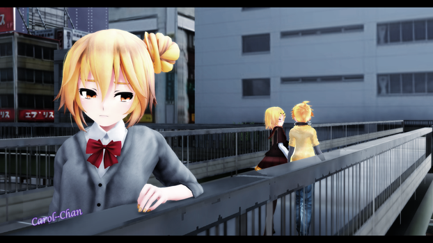 [MMD] because she? by Carol--chan