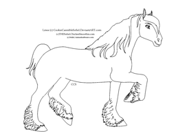 Draft Mare Template by CookieCannibleSofiel