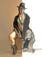 Lara Croft by Adam Hughes by EnModeCroft