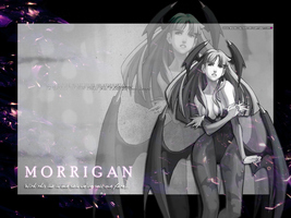 Morrigan Aensland Wallpaper V.2. by BriellaLove