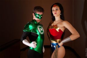 Green Lantern and Wonder Woman by OniksiyaSofinikum