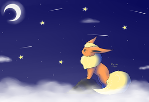 Flareon - Starry Sky by FreeSpirit59