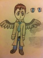 Chibi Castiel Colored by UpAllNightToGet-Loki
