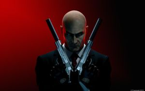 Hitman Absolution Crossed Pistols Wallpaper by thetruemask