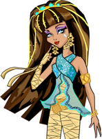 Cleo de nile on MSpaint by Bloo-DKai12