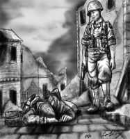 Mourning in War Time by warman707