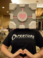 Companion Cube Cosplay! by Teddie-Chan