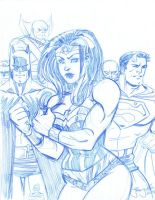 SKETCH Wonder Woman JLA by thejeremydale