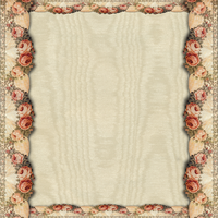 Beige satin with rose border by jinifur
