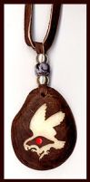 Parrot Totem Tagua Pendant by Foxfeather248