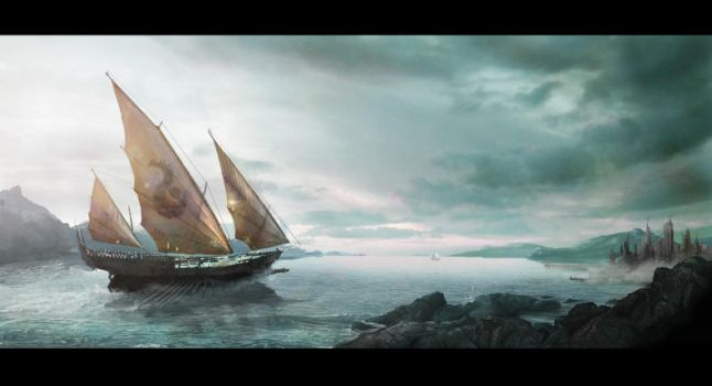 Matte Painting: The Arrival by dIeGoHc