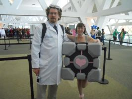 Portal cosplayers by LusheetaLaputa