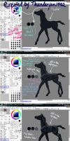 Black Horse Color Tutorial by thunderjam1992