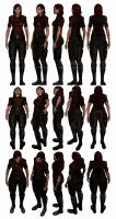Mass Effect 3, Female Shepard Grissom Uniform. by Troodon80