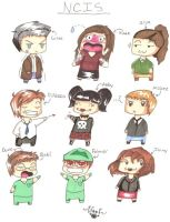 NCIS: Group Chibi Colored by WoofIAmADog