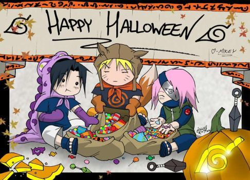 Naruto - Happy Halloween by vashperado
