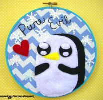 Gunter Pure Evil Embroidery by iggystarpup