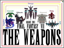 [Sprites] The WEAPONs of Final Fantasy VII by MasterAvalon