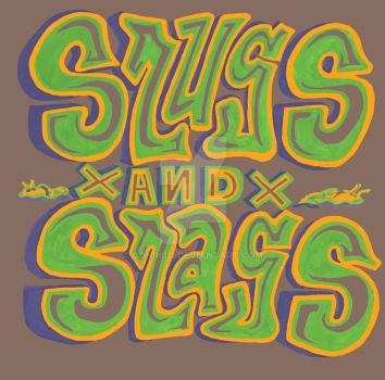Green and Purple Slugs and Slags type by Conrico