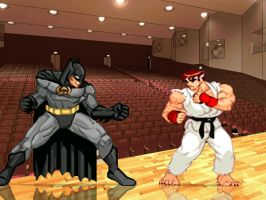 Batman and Ryu HD by anubis55