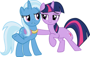 twilight and trixie by freak0uo