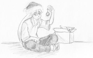 Inu's First X-mas... Sort Of. by Eggry