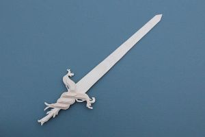 Unpainted Root Sword from Adventure Time by folderol