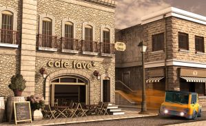 drifting around fave cafe II by deltoiddesign
