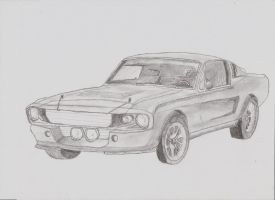 1967 Shelby GT 500 sketch. by 0TheJerk0