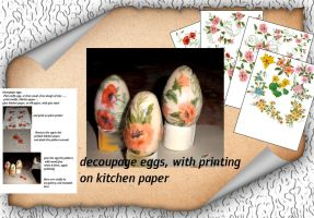 Decoupage Eggs by roula33