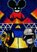 DaftPunk and Deadmau5 by mio-san13