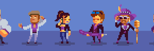 Saints Row The Third Characters Pixel Art by saiko-raito