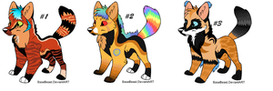 Wolf Adoptables-OPEN by TinyWolfy