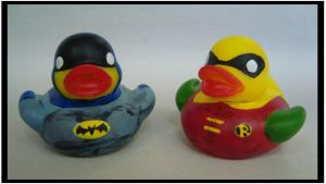 Batman and Robin Duckies by Caen-N