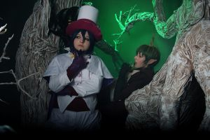 Ao No Exorcist: Mephisto and Amaimon by JonneCat