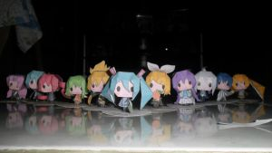 Vocaloid Paper Craft by kawaiineko-kona