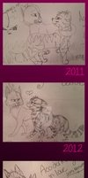 RiverBelle's Sketches: Then Vs. Now by RiverBelle