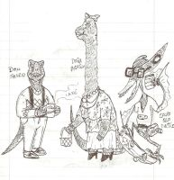 dino people by GoreReptil
