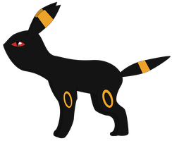 My second vector of Umbreon. by Flutterflyraptor