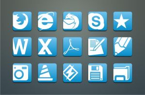 Simple Blue-White icons by TigerCat-hu