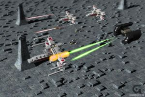 Mini XWing and Tie Fighter by KnightRanger
