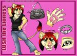 LushLioness Ref Sheet by shiverz