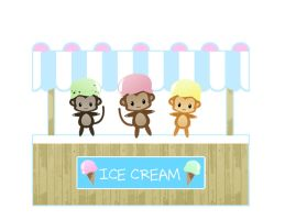 Ice cream stand by MelanieLC