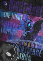 Nightmare moon Poster by Dark-Jackass