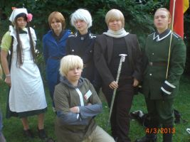 Animecon 2013 ~ Hetalia cosplay[s] by xXGiggleDeathProXx