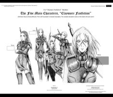 Claymore FS: 5 Main Characters by bmesias063